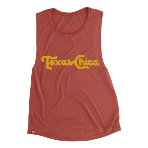 Tumbleweed Texstyles Women's Texas Chica Muscle Tank Paprika