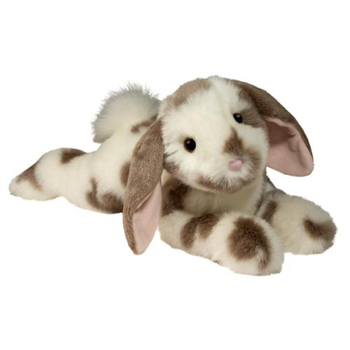 Douglas Toys Ramsey DLux Gray Spotted Bunny