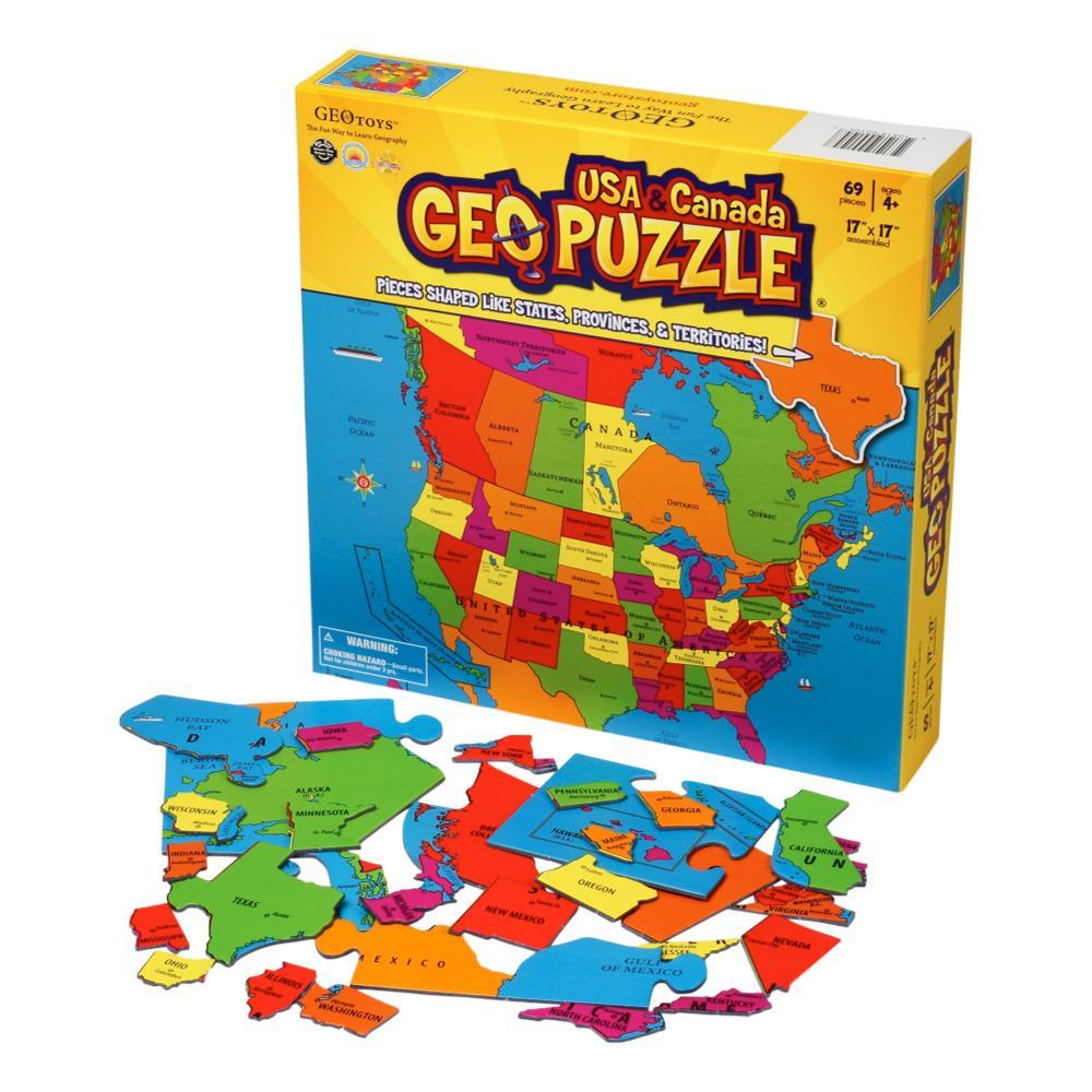 Geotoys Geopuzzle Usa And Canada - Educational 69 Piece Geography Jigsaw Puzzle
