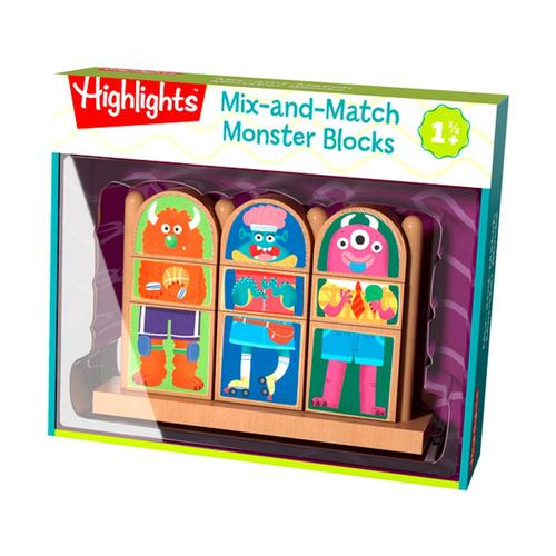 HABA Highlights Mix-and-Match Monster Blocks