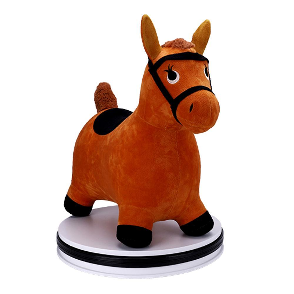 Iplay Ilearn Brown Hopping Horse Toy