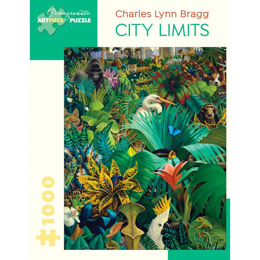 Pomegranate Charles Lynn Bragg : City Limits 1000- Piece Jigsaw Puzzle