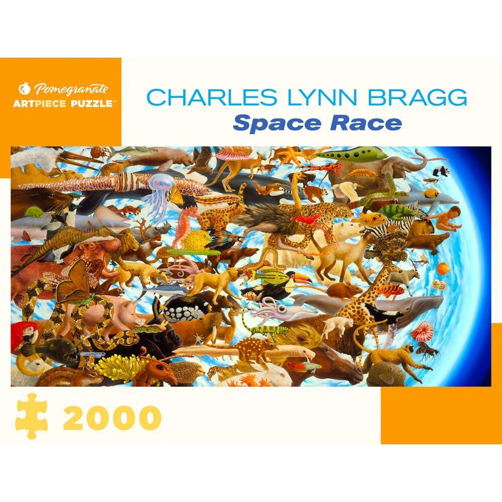 Pomegranate Charles Lynn Bragg : Space Race 2000- Piece Jigsaw Puzzle