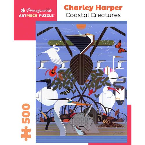 Pomegranate Charley Harper: Coastal Creatures 500-Piece Jigsaw Puzzle