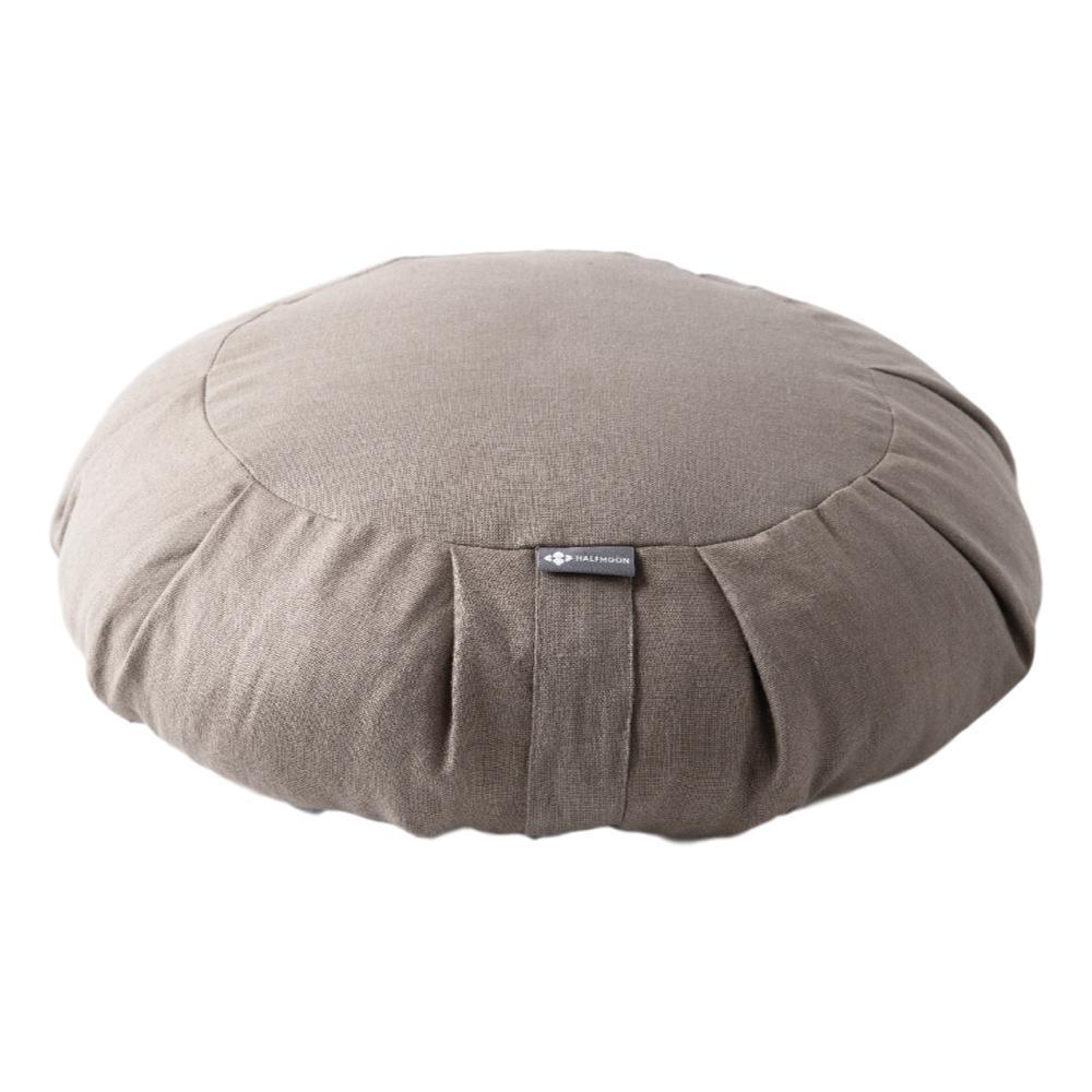 Halfmoon Round Meditation Cushion - Limited Edition LT.MSHRM.LINEN
