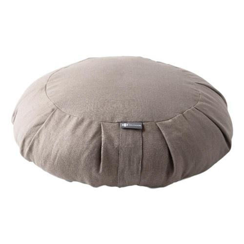 Halfmoon Round Meditation Cushion - Limited Edition Lt.Mshrm.Linen