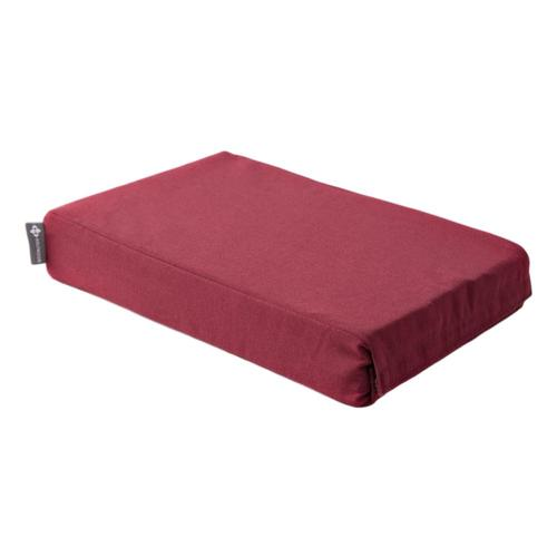 Halfmoon Chip Foam Yoga Block with Cover Ruby