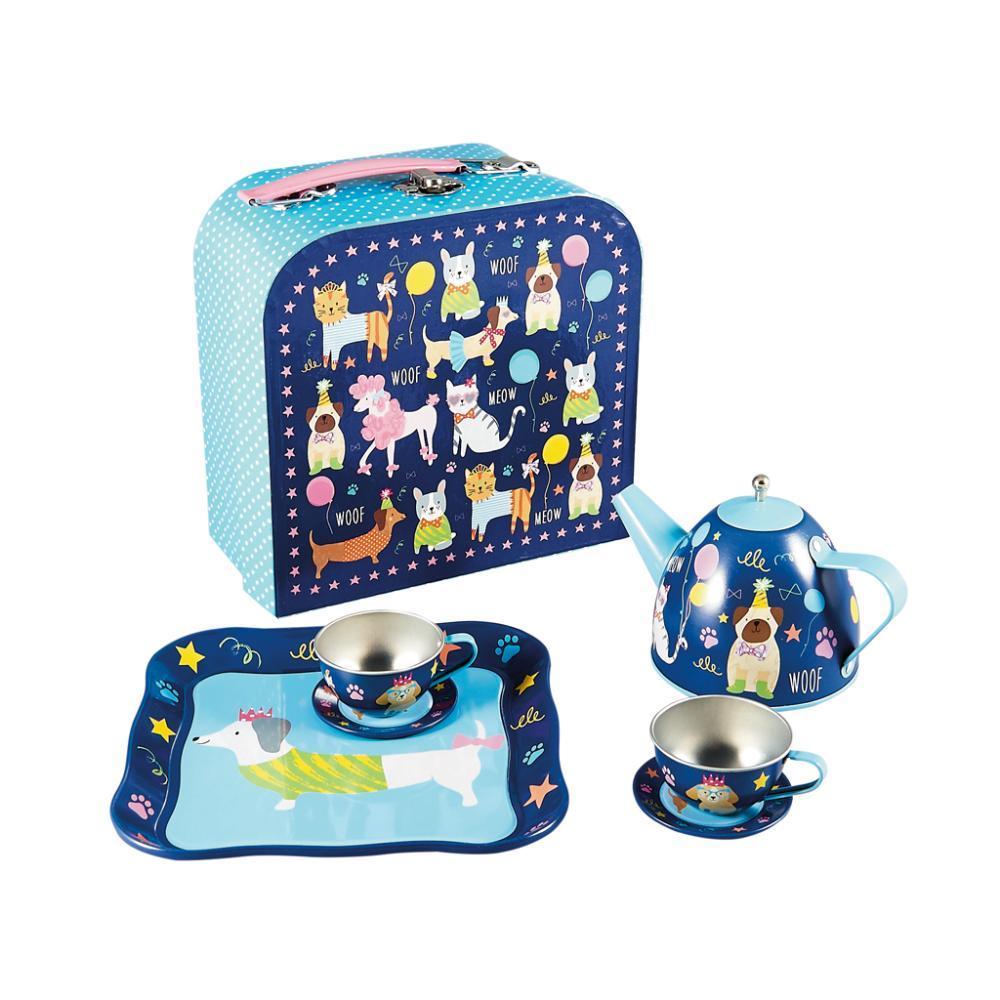 Floss & Rock Pets 7pc Tin Tea Set