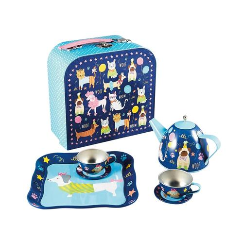 Floss & Rock Pets 7pc Tin Tea Set