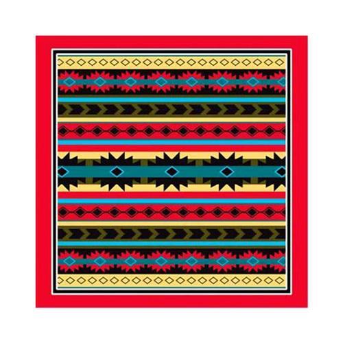 Modern Aztec w/ Red Trim Bandana Redtrim