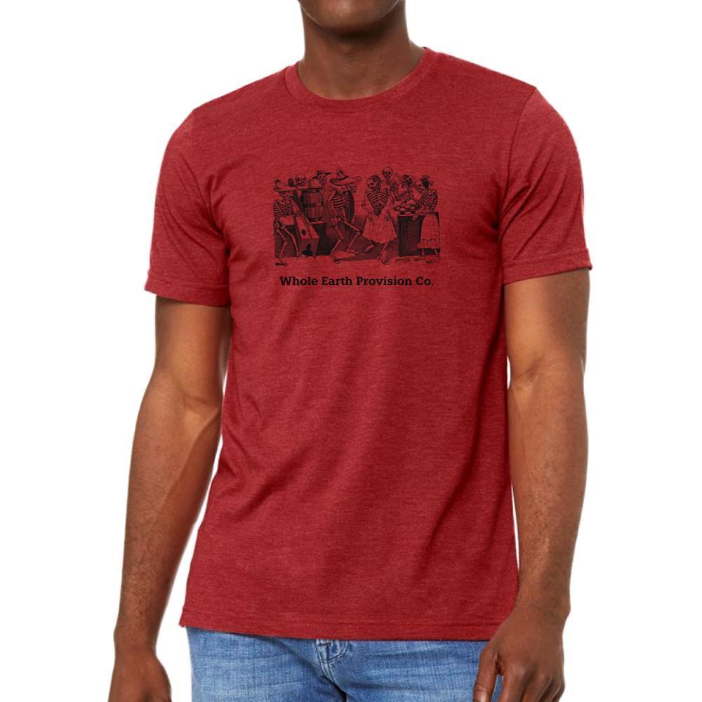 Whole Earth Unisex Fandango T-Shirt CANVASRED