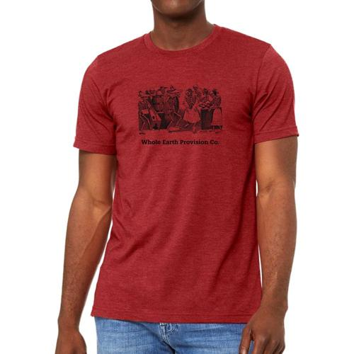 Whole Earth Unisex Fandango T-Shirt Canvasred
