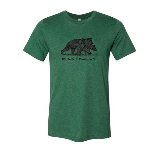Whole Earth Unisex Bear T-Shirt Grass
