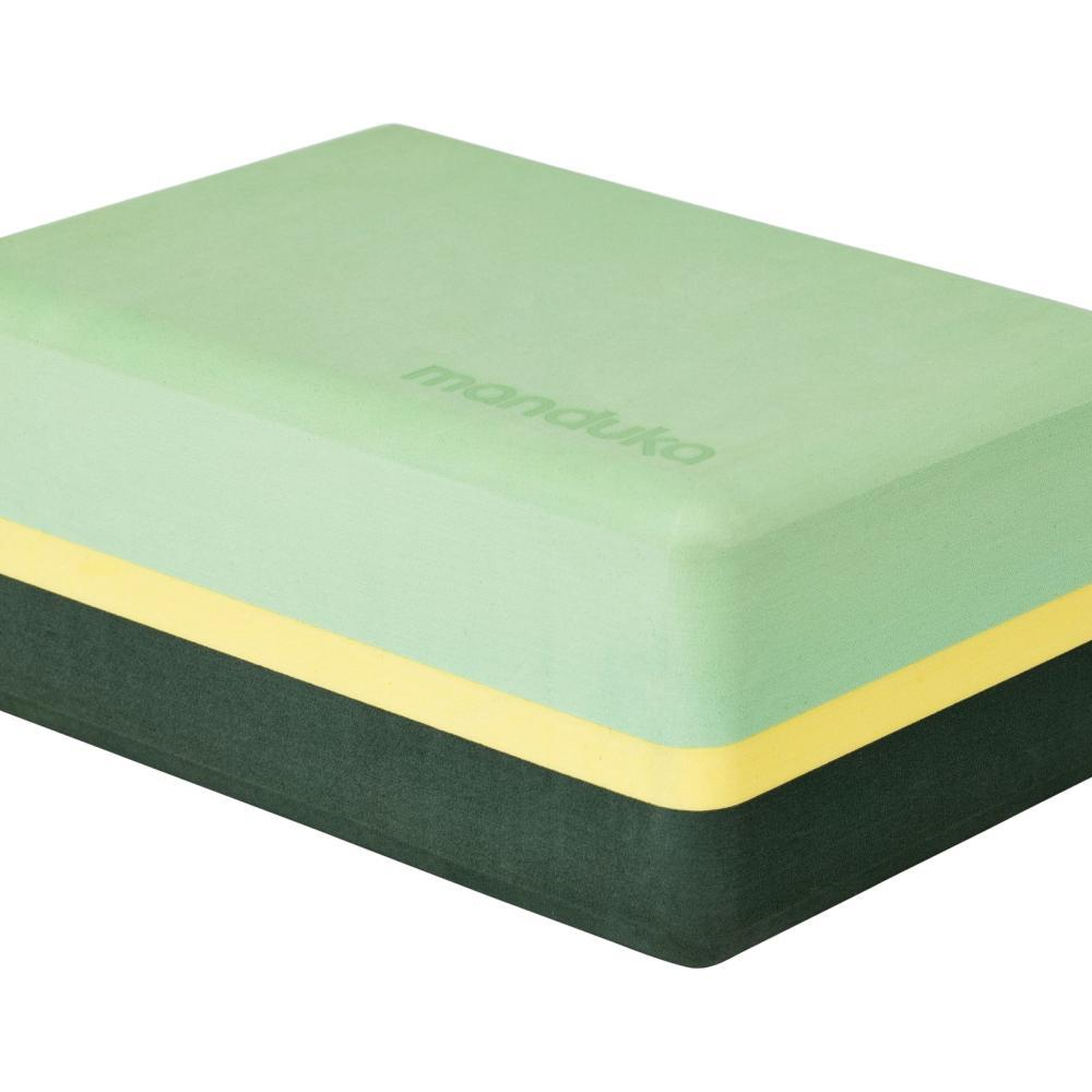 Manduka Recycled Foam Yoga Block GREEN_ASH