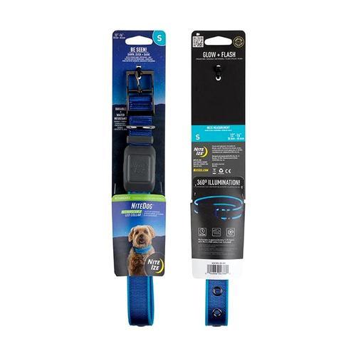 Nite Ize NiteDog Rechargeable LED Collar - Small Blue_led
