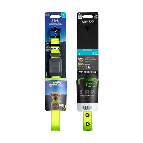 Nite Ize NiteDog Rechargeable LED Collar - Small Lime_grn_led