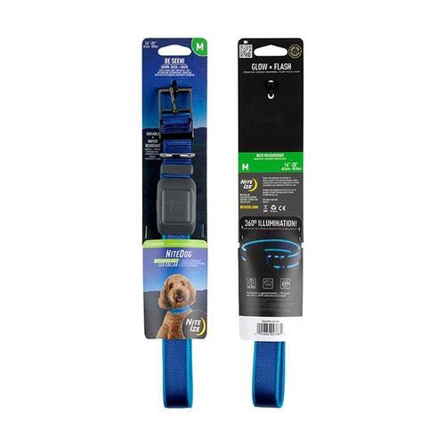 Nite Ize NiteDog Rechargeable LED Collar - Medium Blue_led