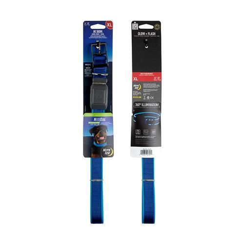 Nite Ize NiteDog Rechargeable LED Collar - XL Blue_led