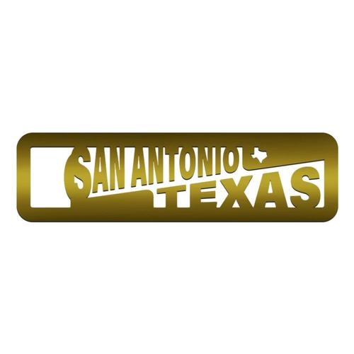 Zootility San Antonio Brass Bottle Opener