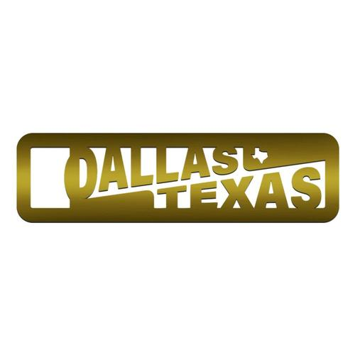Zootility Dallas Brass Bottle Opener