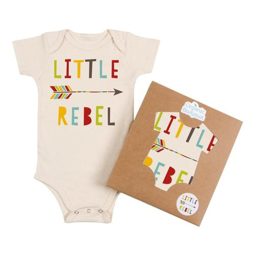 Morado Designs Infant Little Rebel Bodysuit Natural