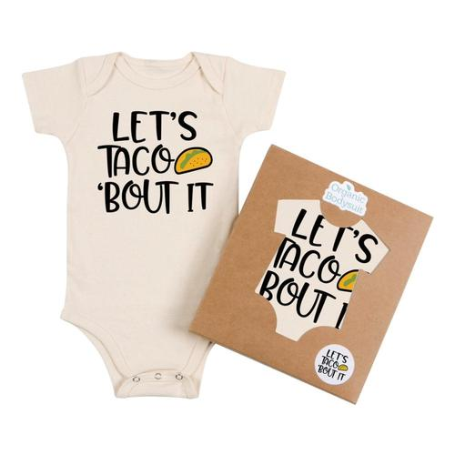Morado Designs Infant Taco About It Bodysuit Natural