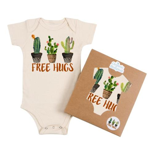 Morado Designs Infant Free Hugs Bodysuit Natural
