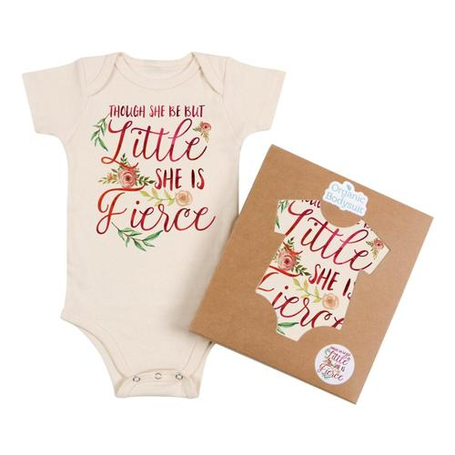 Morado Designs Infant She is Fierce Bodysuit Natural