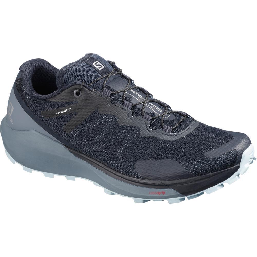 Salomon Women's Sense Ride 3 Trail Running Shoes NAVY.FLNT