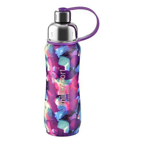 Thinksport Artist Series Insulated Sports Bottle 17oz - Purple Bubbles Flutter