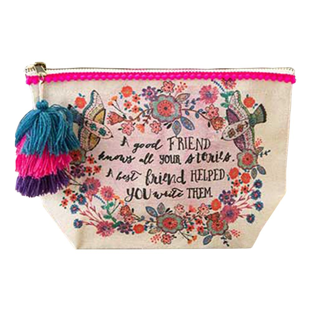 Natural Life Good Friends Canvas Pouch