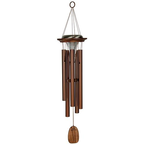 Woodstock Chimes Moonlight Solar Chime - Bronze