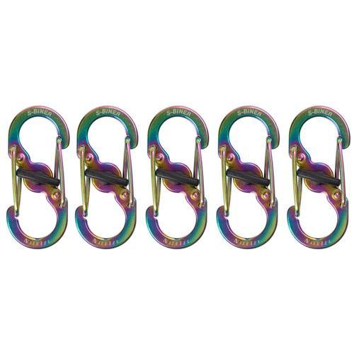 Nite Ize S-Biner MicroLock Stainless Steel - 5 Pack Spectrum