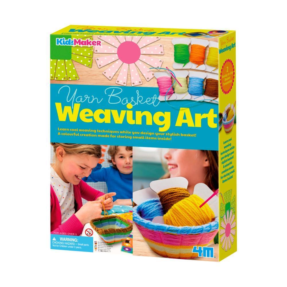 Kidzmaker Yarn Basket Weaving Art