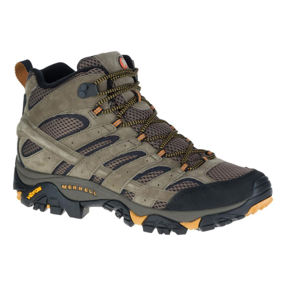 Merrell Men's Moab 2 Mid Ventilator Hiking Boots - Wide WALNUT