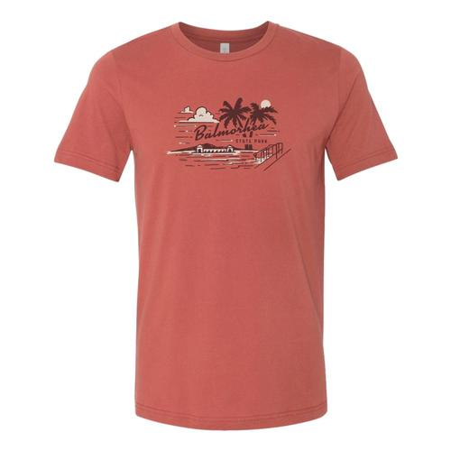 The Landmark Project Unisex Balmorhea State Park Tee Rust