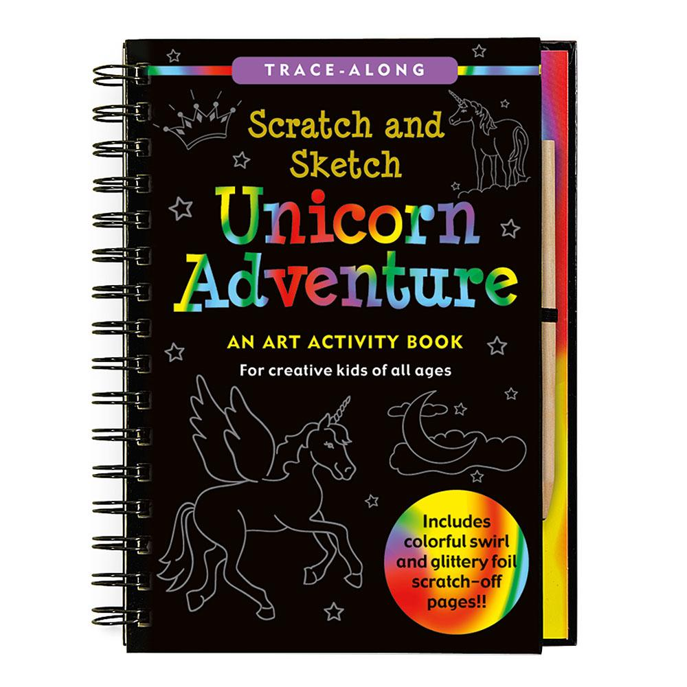 Peter Pauper Press Scratch & Sketch Unicorn Adventure