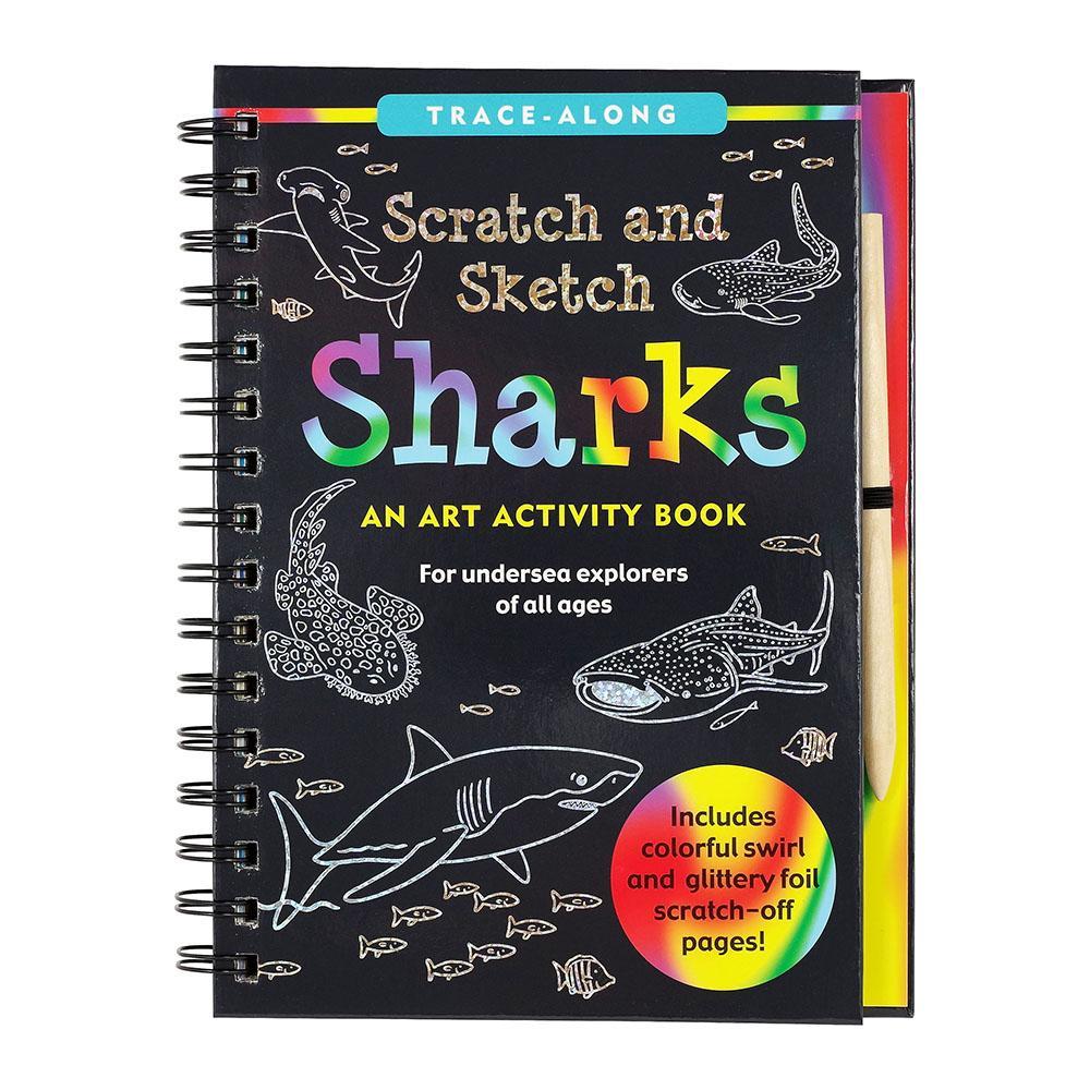 Peter Pauper Press Scratch & Sketch Sharks