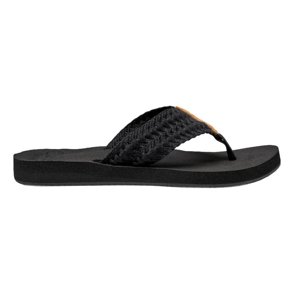 Reef Women's Cushion Threads Sandals BLACK