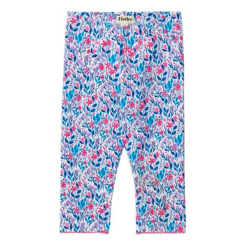 Hatley Girls Spring Wildflowers Capri Leggings White