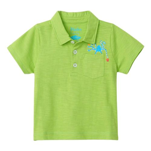 Hatley Infant Ocean Octopus Polo Tee Limegrn