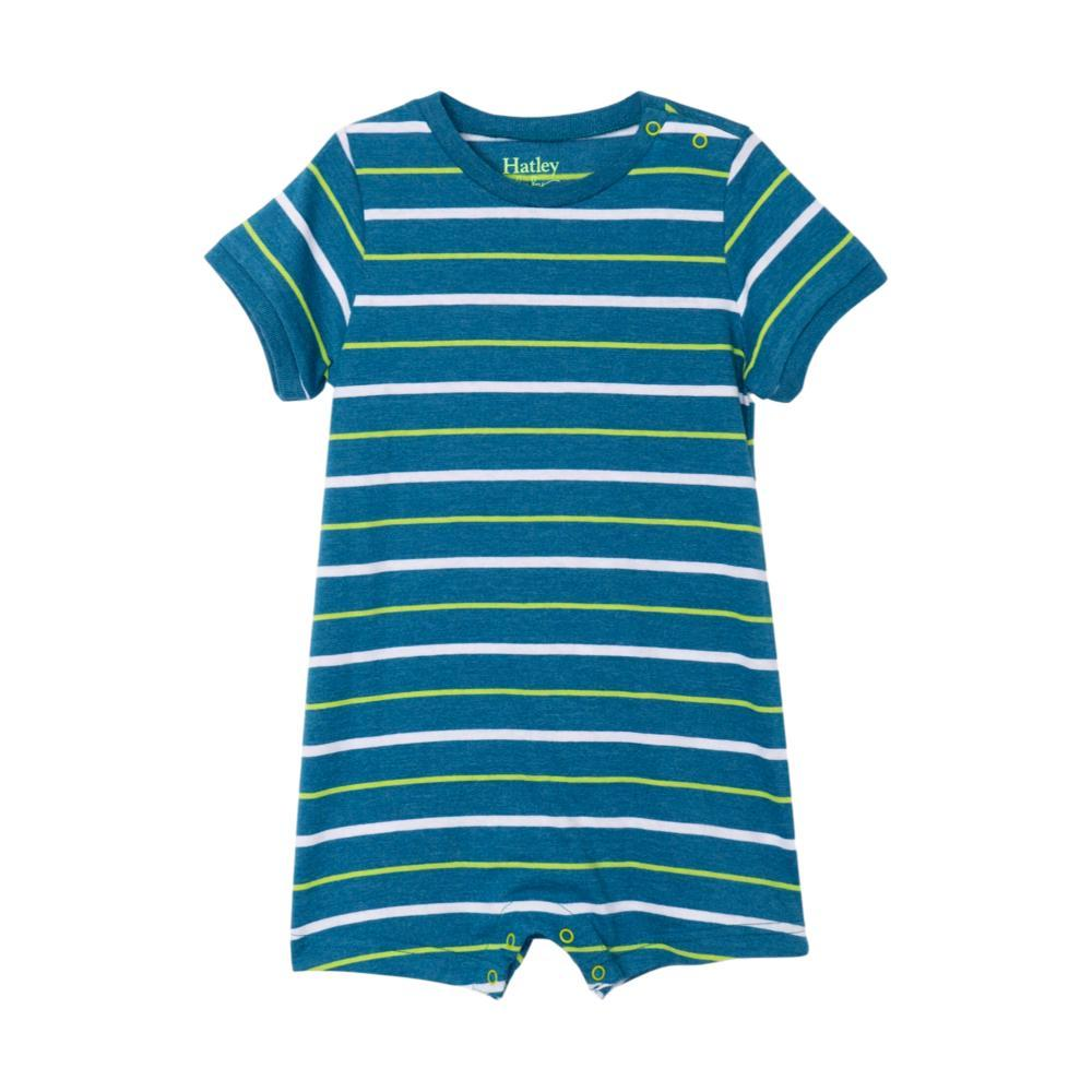 Hatley Infant Ocean Stripe Romper MRCNBLUE