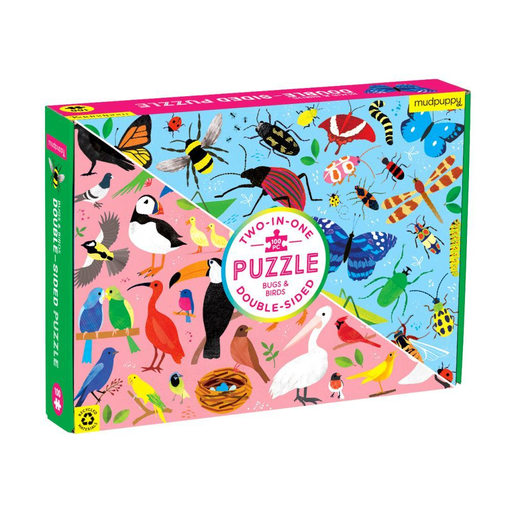Mudpuppy Bugs & Birds 100 Piece Double- Sided Jigsaw Puzzle