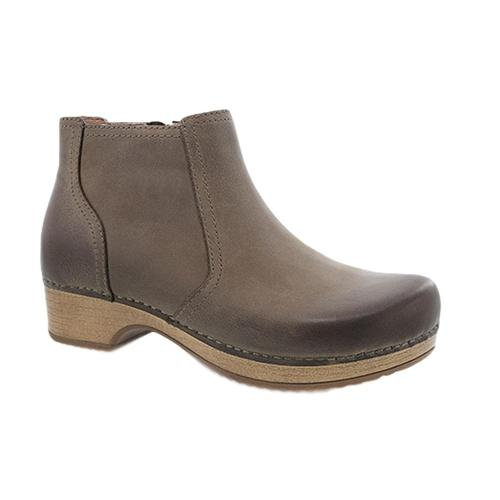 Dansko Barbara Taupe Burnished Nubuck Boots Taupburn.Nb