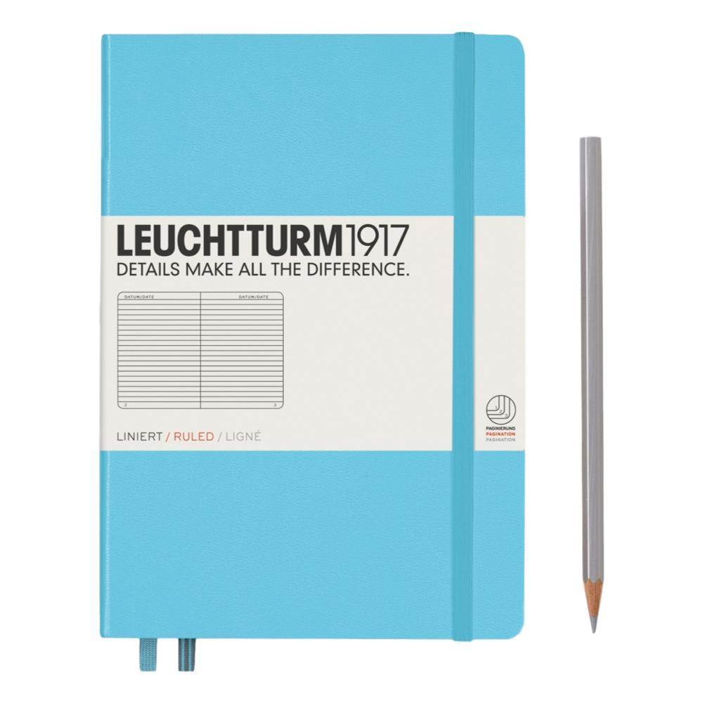 Leuchtturm1917 Hardcover Medium Ruled Notebook ICE_BLUE