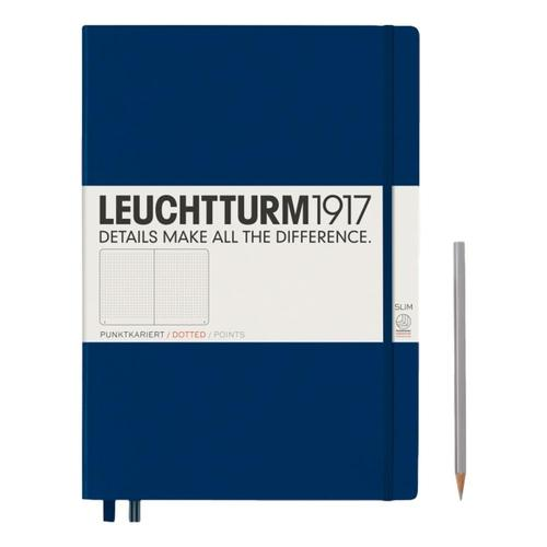 Leuchtturm1917 Hardcover Dotted Master Slim Notebook Navy