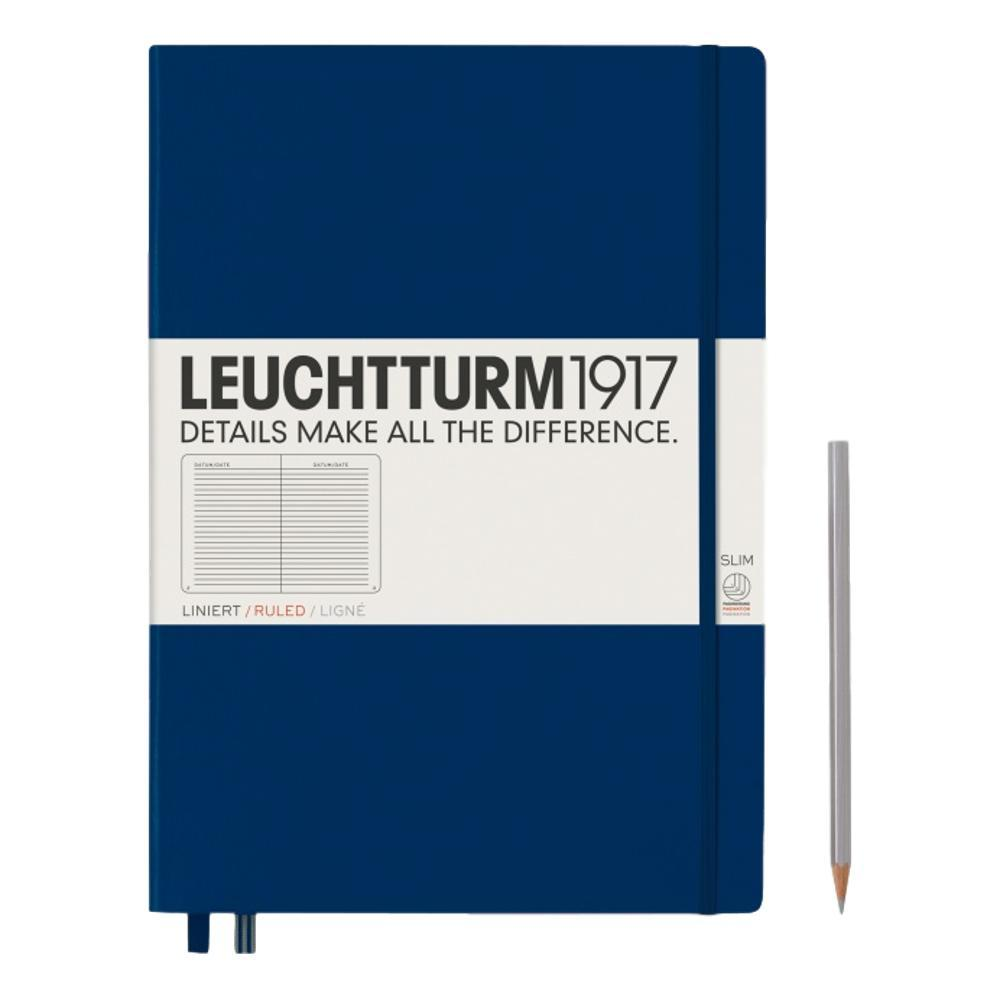 Leuchtturm1917 Hardcover Ruled Master Slim Notebook NAVY