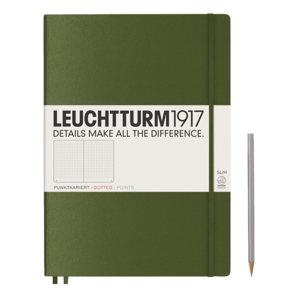 Leuchtturm1917 Hardcover Dotted Master Slim Notebook ARMY