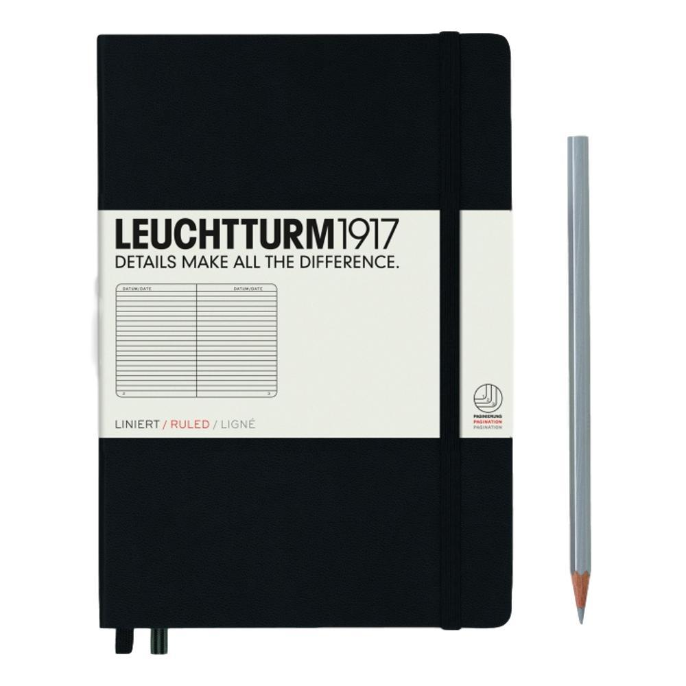 Leuchtturm1917 Hardcover Medium Ruled Notebook BLACK