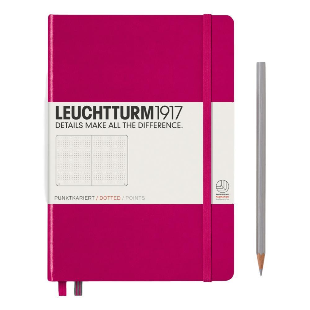 Leuchtturm1917 Hardcover Medium Dotted Notebook BERRY